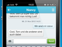 mysms iPhone UI