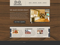 D&D Home Interiors Website Design