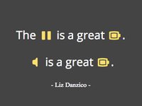 Liz Danzico's Quote Iconified