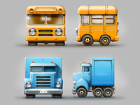 Tiny cubic cars game concepts #1
