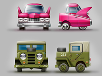 Tiny cubic cars game concepts #2