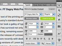 Typekit Photoshop Extension