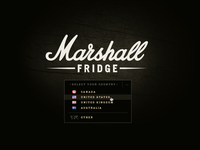 Marshall Fridge Website - Country Dropdown
