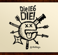 """Die IE6 DIE!"" iPhone Sketchnote Wallpaper"