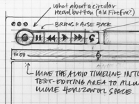 Note App Wireframe Sketch: Controls