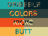 Dribbble Colors Kicks Butt