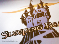 Sleeping Beauty logo illustration