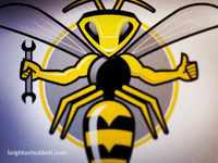 Yellowjacket logo illustration