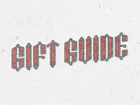 Gift Guide Typography