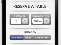 VIP Reservation Page for iPhone