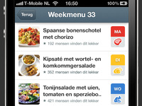 Weekmenu 2.0 - Home screen