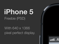 iPhone 5 freebie (PSD)