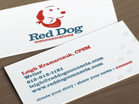 Red Dog Business Cards