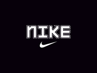 NIKE • 'regular outline' lettering