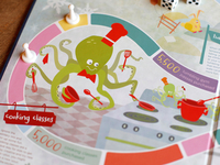 Warming Up Winter Game Board-Octopus
