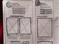 Dual layout sketches for jonikorpi.com