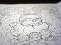 Cross Bones Sketch