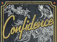 Confidence - Coffee Label
