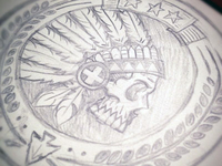Headdress Patch Sketch Dribble