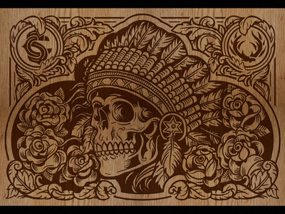 Wood Engraved Boombox - Back