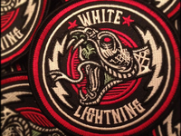 White Lightning - Custom Embroidered Patch