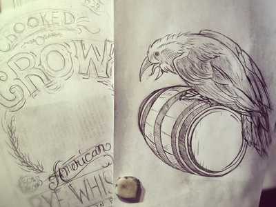 Crooked Crow  - Rye Whiskey Sketch