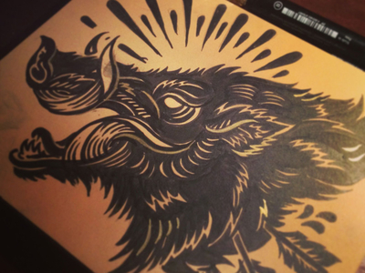 Bush Hog - Block print