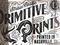 Primitive Prints - Straw Castle