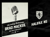 Brad Mackeil - Recording Tech Biz Cards