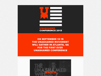 Unashamed Conference 2013 (Splash Page)