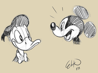 Mickey and Donald Sketch.