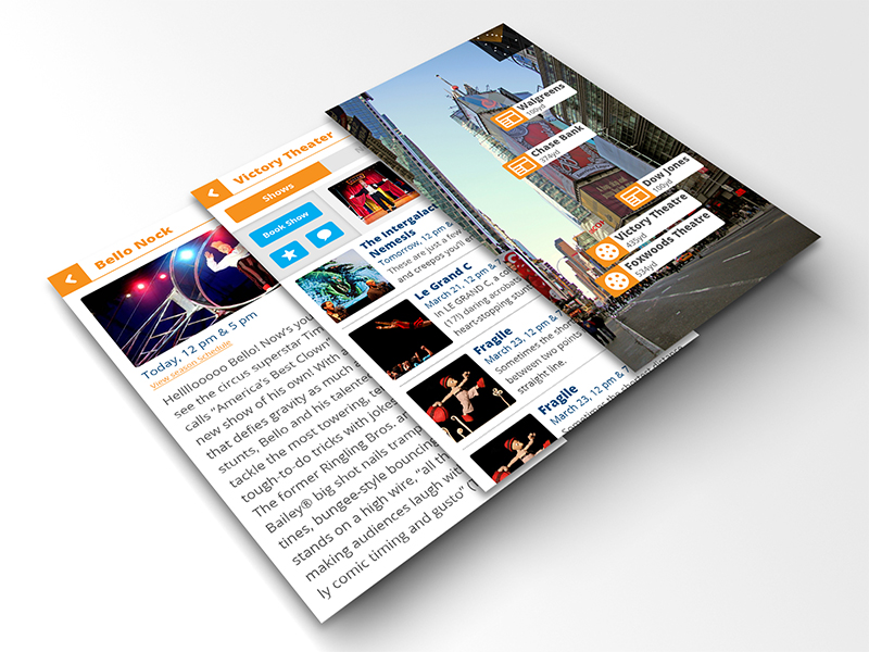 Augmented Reality News App Concept