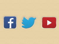Large social networking icons