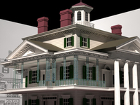 Haunted Mansion 3D Render