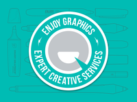 Enjoy Graphics Badge Logo