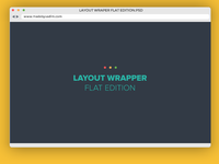 Layout Wrapper flat edition