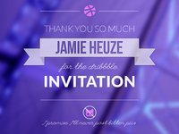 Dribbble - Thanks Jamie!