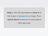 IconDrop - visualize your app icon