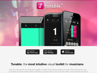 Tunable - Website Closeup