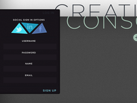 Creative Conscience - Signup Form
