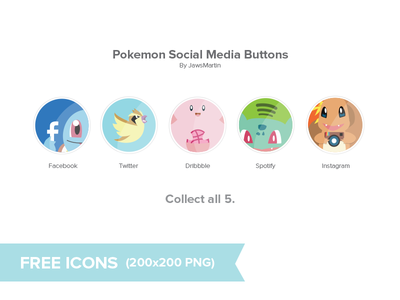 Download Pokemon Social Icons