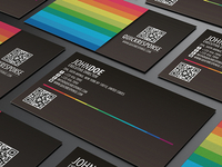 Quick response business card design version 04