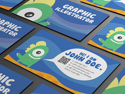 Graphic_monster_character_design_business_card_design_dribbble