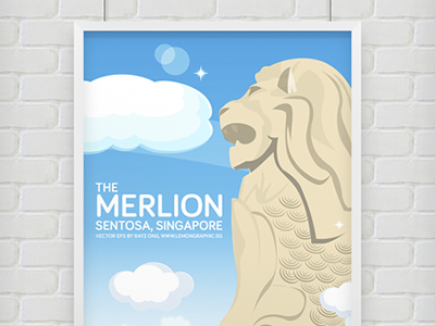 Merlion-singapore-vector-eps-illustrator-ai-dribbble