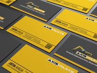 Axisparts Branding business card