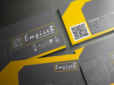 EmpireB car Grooming business card design
