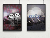 The National Boxer and Virginia EP Poster Concepts