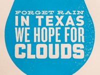 """In Texas We Hope For"" Poster For Sale"