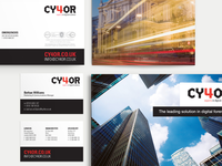 CY4OR corporate stationery & brochure