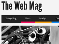 The Web Mag starting to take shape